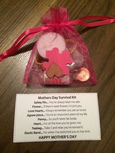 mother's day survival kit - Google Search saving pic only.. not the right link?