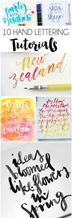 10+ Hand Lettering Tutorials | dawnnicoledesigns.com More