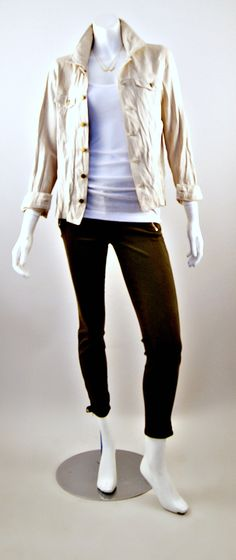 Current/Elliott Leather Mechanic Jacket and Carrie Jewel Zip Skinny Jeans