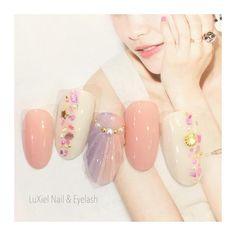 New Year's Nails, 3d Nails, Fancy Nails, Pretty Nails, Gelish Nails, Manicure, Wave Nails, Kawaii Nail Art, New Years Nail Art