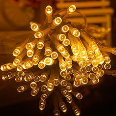 AndkYwd Warm White 50 LED String Lights Battery Operated for Christmas Wedding Birthday Party -- Startling review available here