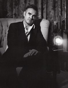 Morrissey photographed by Jeff Riedel in 2004.