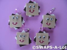 Art Smiley Face Smores Girl Scout SWAPs girl-scouts