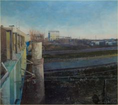 Dale Roberts, Winter Light, Encaustic Painting, Painting Techniques, Urban, Denver Colorado, Cityscapes, Landscape, Gallery
