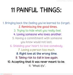 11 painful things quote