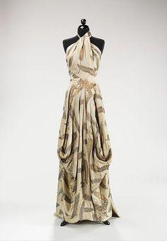Charles James, Evening dress 1936 , silk and metal