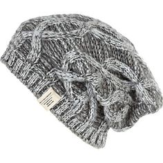 5754964d5c6 grey cable knit beanie hat - hats - accessories - men - River Island