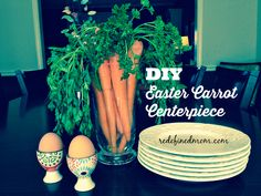 DIY Easter Carrot Centerpiece