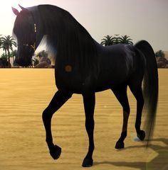 Sims 3 Horse Stable | Converted From Sims 3 Dragonslave horse mesh custom coat