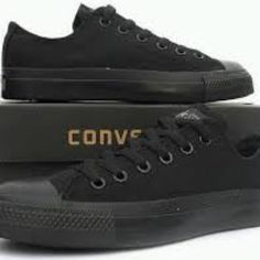 full black converse worn a couple of times , still in good shape. for men and women! goes great with anything  Converse Shoes Sneakers
