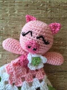 Hey, I found this really awesome Etsy listing at https://www.etsy.com/listing/229497473/crocheted-sweet-pig-lovey-baby-gift-baby