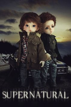 Supernatural poster made with Volks YoSDs... hilarious and well done :)