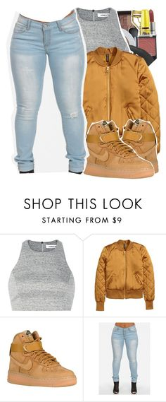 """Raining Men-Rihanna"" by hxfsa ❤ liked on Polyvore featuring moda, NARS Cosmetics, Elizabeth and James e NIKE"