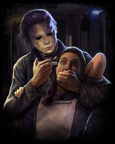 Michael Myers art from the HALLOWEEN series of films.