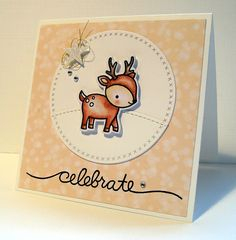 En gisteren was er nog een jarige...het dochtertje van Sanne en Yuri,Nina. Vorig jaar stuurde ik hen een kaartje met een hertje, niet w...