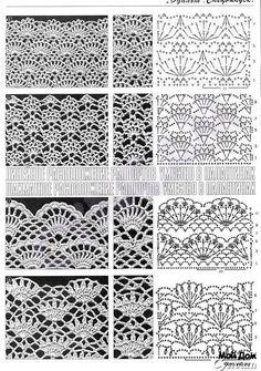 Many stitch and shawl graphs, liveinternet.ru