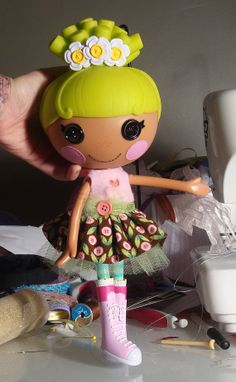 Lalaloopsy Button Flower Dress by PeppermintPiglets on Etsy, $11.50