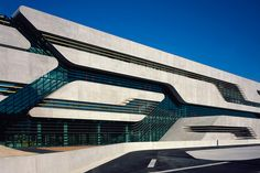 Amazing architect Zaha Hadid has just completed a streamlined concrete and glass building for three government departments in Montpellier, France Zaha Hadid Architecture, Parametric Architecture, Futuristic Architecture, Contemporary Architecture, Amazing Architecture, Architecture Design, Chinese Architecture, Architecture Office, Government Architecture