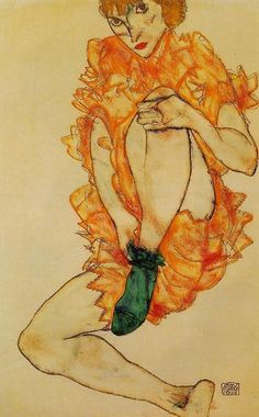 Egon Schiele, The Green Stocking, 1914