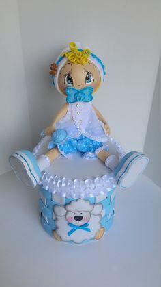 Centro de mesa de ducha bebé bebé niño central fofucha Snow Globes, Baby Shower, Candy, Unicorns, Children, Doll Crafts, Paper Engineering, Cardboard Box Crafts, Baby Ideas