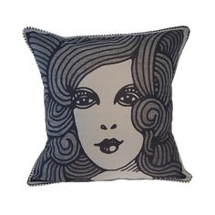 Every home needs a beautiful woman in it. You've got that under control. But an extra one, in the form of an art deco pillow sure won't hurt.