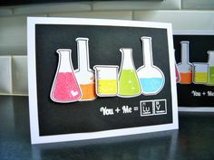 Science I Love You Card Geeky Anniversary Card by apaperaffaire