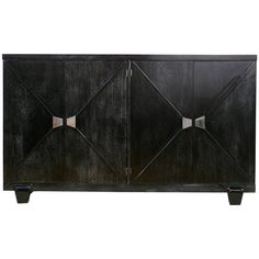 Four-Door Cerused Credenza in the Manner of Grosfeld House   From a unique collection of antique and modern credenzas at https://www.1stdibs.com/furniture/storage-case-pieces/credenzas/