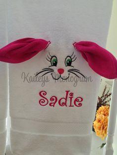 Kids Bath Towels Monogram Towel Set by KaileysMonogramShop on Etsy#Easter #easterbasket #kids