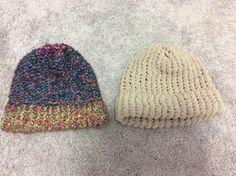 Handmade Knitted Hats Unisex Lot of 2 Multi Color | eBay