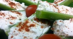 Healthy Appetizer: Cream Cheese and Celery!