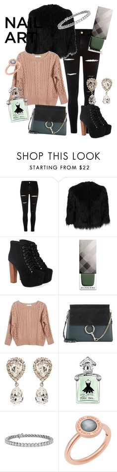 """""""#13 Shades of Green"""" by margot-vanrossum ❤ liked on Polyvore featuring beauty, River Island, Theory, Jeffrey Campbell, Burberry, Ryan Roche, Chloé, Dolce&Gabbana, Guerlain and Blue Nile"""