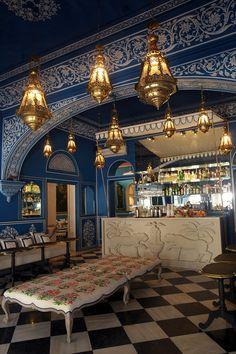 Ethic Decor - Architecture - Bar Palladio Jaipur. Narain Niwas Palace Hotel, Kanota Bagh, Narain Singh Road Jaipur – RJ 302004 India.
