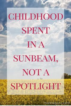 Giving children the time and space to let their minds wander is a true childhood unplugged. So much of childhood these days is based on performance and preplanned, prepackaged…