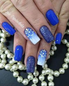 Gorgeous Nails, Blue Nails, Nail Arts, Beauty Make Up, Nails Design, Nail Inspo, Christmas Nails, Manicures, Beauty Nails
