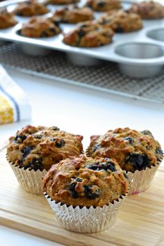 Start your day off right with these Rise & Shine Blueberry Oatmeal Muffins!