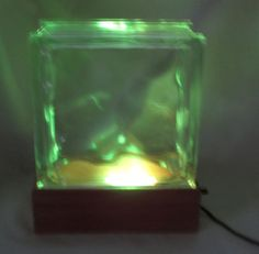 T.V. Lamp Lighted Glass Brick Block Aquarium Fish by roughcreek