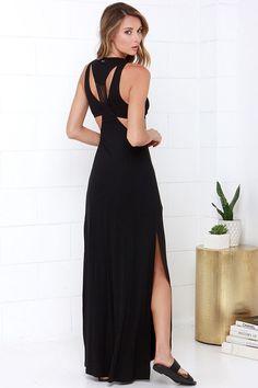 RVCA Nite Moves Black Maxi Dress at Lulus.com!