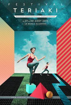 Les Siestes Teriaki 2015, Le Mans, Allonnes. Visuel Julien Pacaud  #festival #affiche #affichefestival https://fr.pinterest.com/igreka2n/festival/