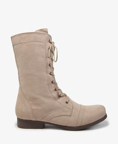 Faux Suede Combat Boots #30percentoff #bootup!