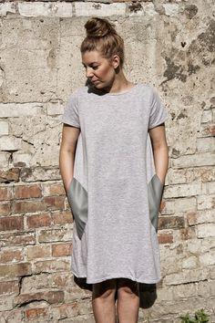 sukienka A-dress szara S/M