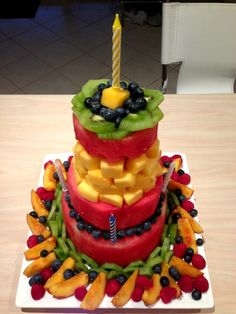 Fresh All Fruit Cake for DD2s first birthday It wasnt planned