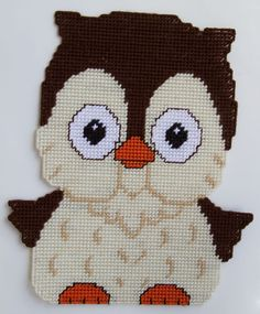 Plastic Canvas-Owl Wall Hanging