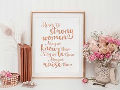 Digital Art - Printable Art - Printable Quote - Rose Gold Faux Foil - Inspirational Quote - Wall Art Quote - Wall Art Print - Quote Print