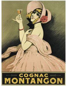 Cognac Montangon vintage poster  G80246