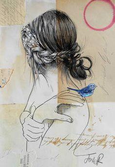 "Saatchi Art Artist Loui Jover; Drawing, ""the getting of wisdom"" #art"