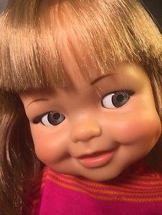 1967 Vintage Ideal GIGGLES Doll Original Shirt Flirty Eyes Mute