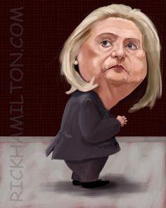 Hillary Clinton  (by Rick Hamilton)