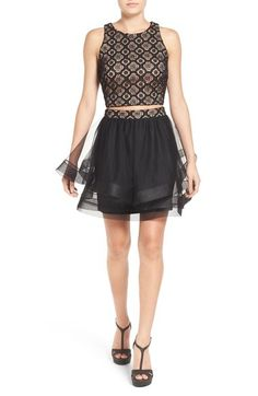 Way-In Two-Piece Lace Skater Dress available at #Nordstrom