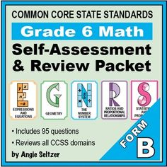 Grade  Math SelfAssessment And Review Bundle Forms AD  Common