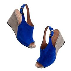 Wedges: The royal blue is such a vibrant shade! Note to self - wear red nail polish! (By Madwell)